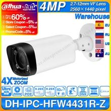 Dahua IPC HFW4431R Z 4MP gece kamera 60m IR 2.7 ~ 12mm VF Lens Zoom otomatik odaklama 80M IR mermi H.265 POE IP kamera CCTV HFW4431R Z