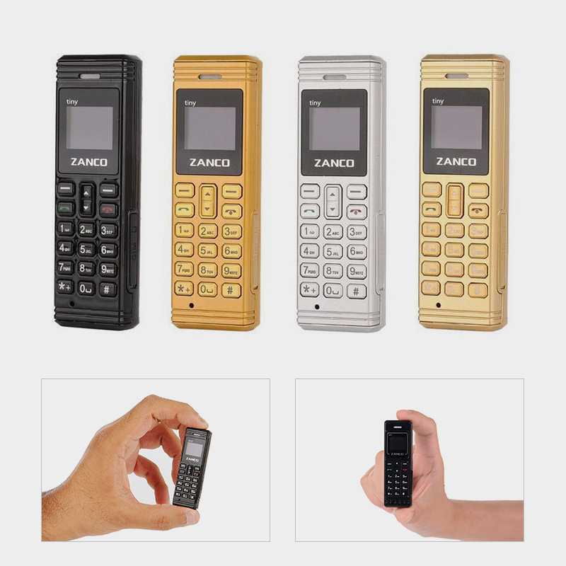 2G Zanco Tiny Fone World'S Smallest Fone  Collection Free Gift With Every Purchase Bluetooth 3.0 Long Standby Tiny Phone