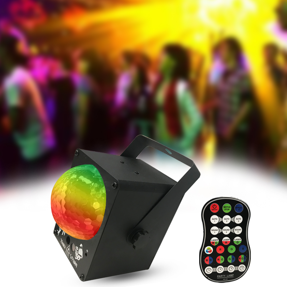 60 Pattern Sound Activated Disco Ball Party Lights Strobe Light RGB LED Lights For Christmas Home KTV Wedding Show