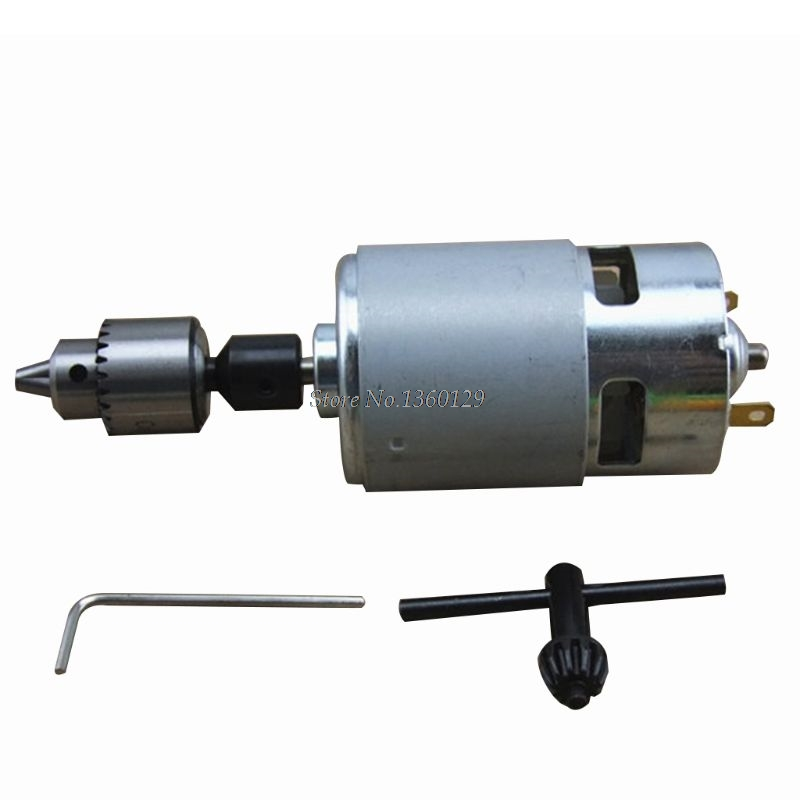 DC 12-24V 775 Motor Electric Drill with Drill Chuck DC Motor for Polishing Drilling Cutting Whosale&Dropship
