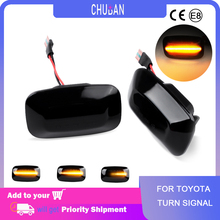 Side Marker Lights For Toyota Land Cruiser 70 80 100 Series Car Dynamic LED Sequential Turn Signal For Camry Celica Previa
