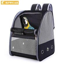 RFWCAK תוכי מחמד תרמיל נשיאה כלוב חתול כלב חיצוני נסיעות לנשימה Carrier ציפור הקנריים תחבורה תיק ציפורים ספקי