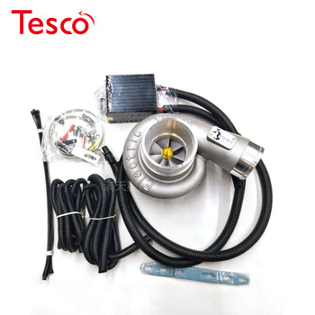 Universal 12V Electric Turbo Supercharger Kit Thrust  Electric Turbocharger Air Filter Intake for  car improve speed cct stage one high flow turbo for mitsubishi triton 4d56 2 5l vt16 turbocharger