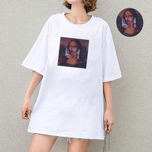 Женская футболка с коротким рукавом Повседневная белая свободная