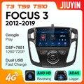 JIUYIN для Ford Focus 2012-2018 автомобильный Радио мультимедийный видео плеер навигация GPS Android No 2din 2 din