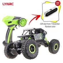 Lynrc RC автомобиль 4WD 2,4 ГГц альпинистский автомобиль 4x4 двойные двигатели Bigfoot автомобиль пульт дистанционного управления модель внедорожный автомобиль игрушка
