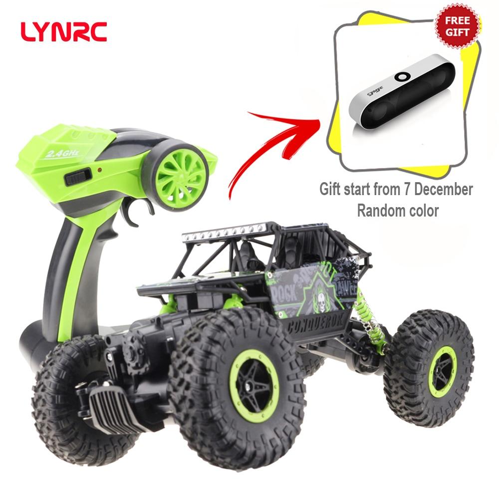 ¡Venta Final! Lyrrc RC coche 4WD 2,4 GHz coche de escalada 4x4 motores dobles bigpie coche de Control remoto modelo todoterreno Vehículo de juguete