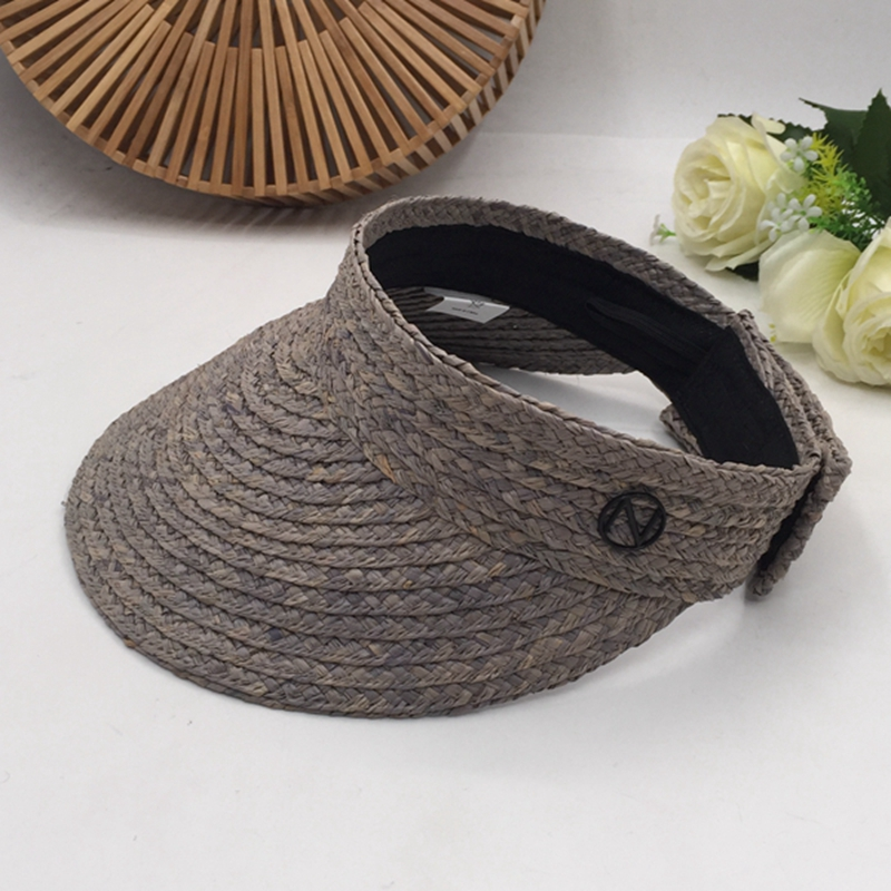 Spring And Summer Visors New Fashion Hat Empty Lafite Grass Woman Without Hat Sun Hat The Beach Sunscreen Holiday Ride