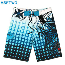 Board Shorts Swimming-Clothes Male Quick-Dry Men Summer Fashion Brand Print Polyester