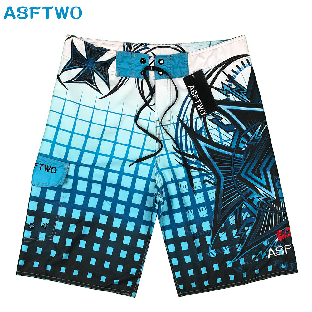 Summer 2020 Brand Fashion Printed   Board     Shorts   Men 100% Quick Dry Elastic Man Boardshorts Sexy Spandex Beach   Short   Male Swimwear