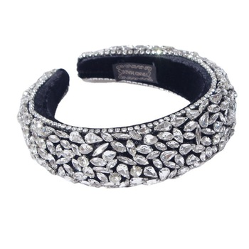 4 styles White Crystal Rhinestones Padded Head Band  6