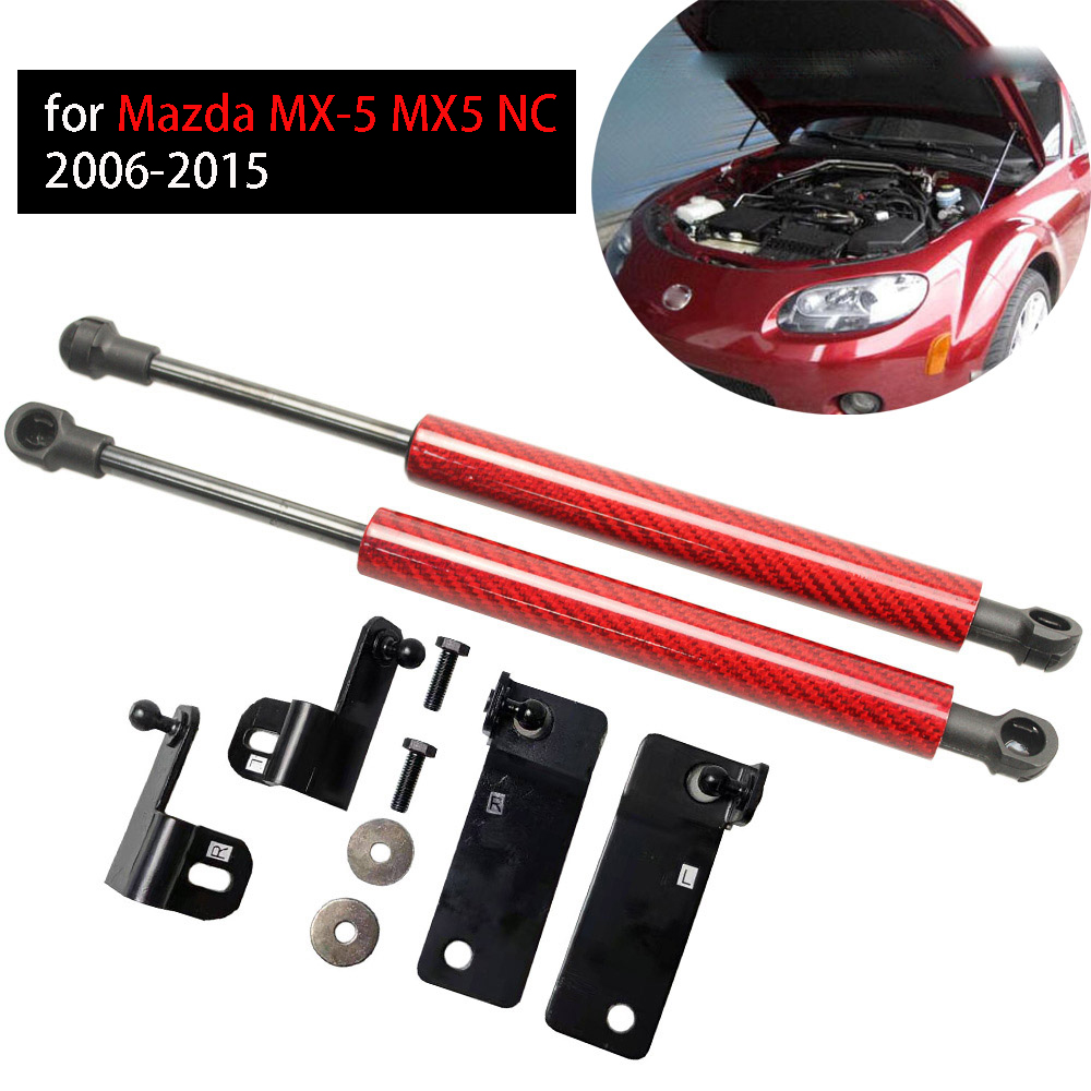 for Mazda MX-5 MX5 NC 2006-2015 modify Auto front bonnet hood Gas Struts Shock Struts Damper Lift Supports(China)