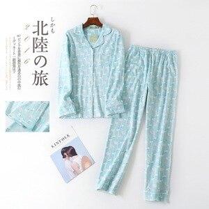 Image 2 - Plus Size Leuke Cartoon Pyjama Sets Vrouwen Nachtkleding 100% Geborsteld Katoen Winter Warm Casual Lange Mouwen Cozy Vrouwen Pyjama