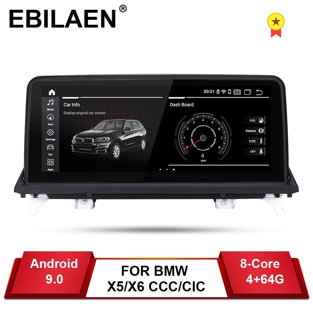 Reprodutor de dvd do carro de ebilaen android 9.0 para bmw x5 e70/x6 e71 (2007-2013) ccc/cic unidade de sistema de navegação do computador auto rádio multimídia ips