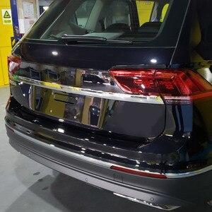 Image 5 - Vtear для VW Tiguan тигуан 2020 2019 2018 задний багажник отделка двери Наружные молдинги аксессуары из нержавеющей стали Автоматическая задняя дверь защита,автомобильные товары