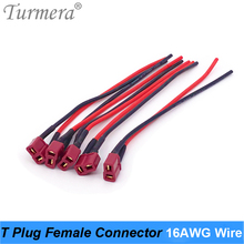 T Plug Female Connector Plug with Silicon 16AWG Wire 15cm Length for 18650 32650 21700 Electric Bike Battery 36V 48V Use
