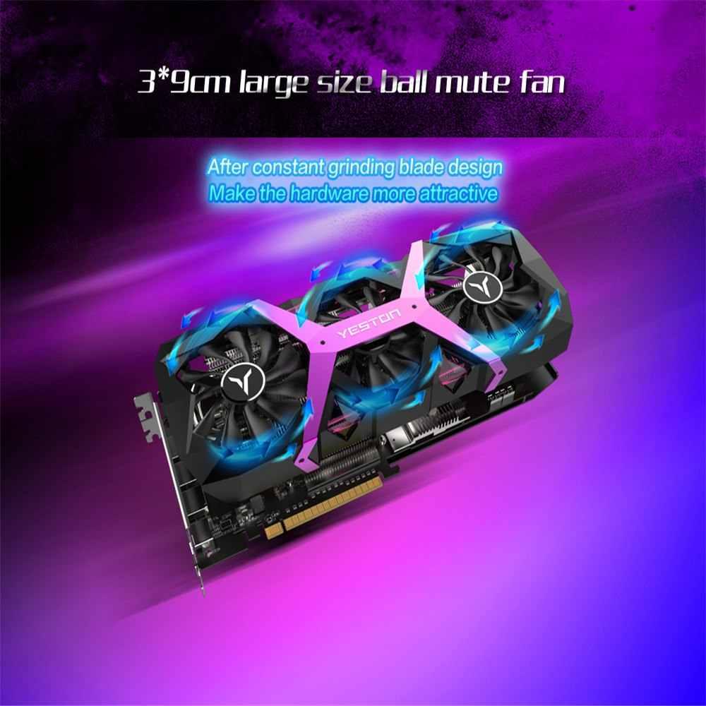 Yeston razon RX 590 8GB GDDR5 256bit ordenador de sobremesa para videojuegos tarjetas gráficas de vídeo compatibles con DVI/HDMI PCI-E X16 3,0
