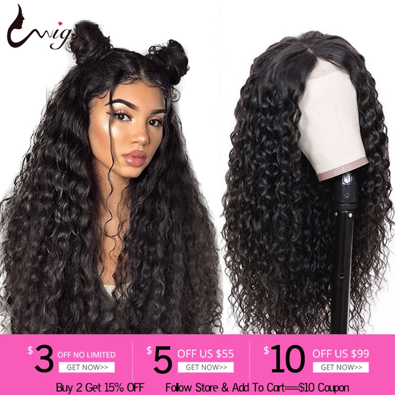 Uwigs Glueless Lace Front Human Hair Wigs For Black Women 13x4 Peruvian Water Wave Wig 8-26 Inch Remy Hair Wigs Pre Plucked