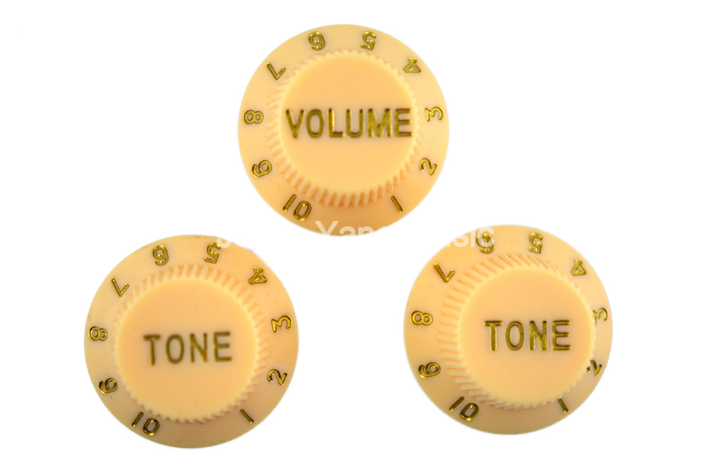 Niko Cream 1 Volume&2 Tone Electric Guitar Control Knobs For Strat Style Electric Guitar Free Shipping Wholesales