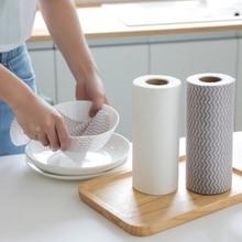 Одноразовые тряпки нетканые кухонные чистящие Ткань для протирки чистящие салфетки для мытья посуды ванная комната моющие салфетки без масла абсорбирующие салфетки