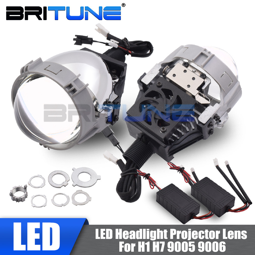 Bi-led Lens Projector Headlight Lenses TX-7 2.5'' LED Lights For H7 H4 H1 9005 9006 Auto Cars Styling Accessories Retrofit DIY