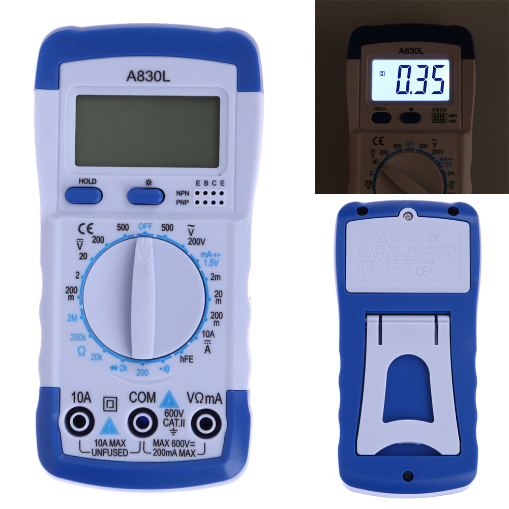 A830L LCD Digital Multimeter DC AC Voltage Diode Freguency  Voltage Current Capacitance Ohm Auto/Manual Range Multimeter
