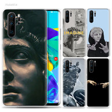 Retro Vintage Art Statue Case for Huawei P20 P30 Pro P Smart Z Plus P10 P9 Lite 2017 Soft TPU Silicone Fundas Capa Phone Cover(China)