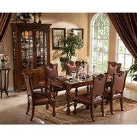 European style antique dining room set Европейский стиль антикварная столовая набор GH157