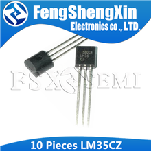 10pcs LM35CZ TO-92 LM35C TO92 LM35 Precision Centigrade Temperature Sensors(China)