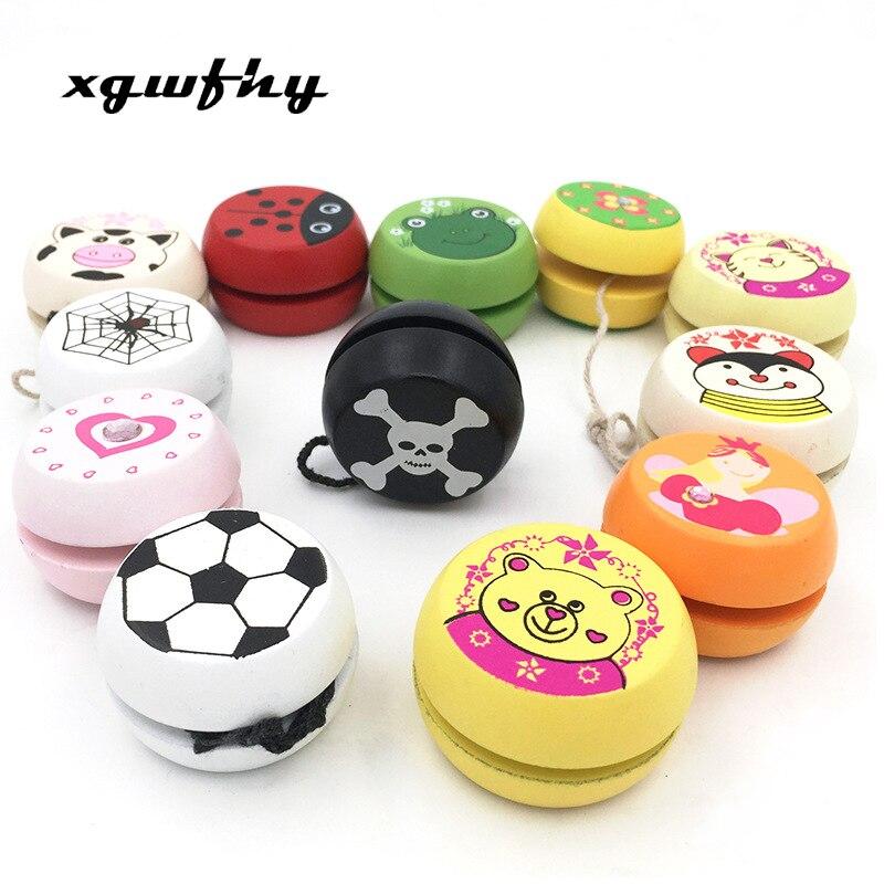 Wooden Yo-Yo Wooden Personality Creative Building Blocks Children Toys YoYo DB