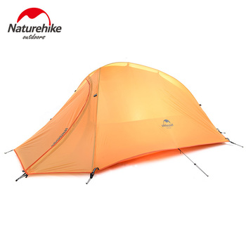 Naturehike outdoor Ultralight Camping Tent 1 Person 20D Silicone Fabric Double Layers single Camping Tent 4 Season With Mat