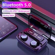 기존 무선 헤드폰 M11 TWS Bluetooth 5.0 이어폰 형 이어폰 소음 감소 HiFi IPX7 스포츠 용 방수 헤드셋