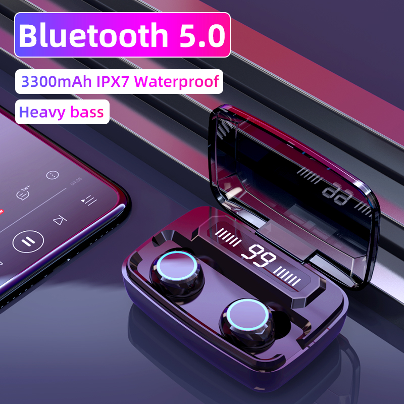 Original Wireless Headphones M11 TWS Bluetooth 5 0 In-ear earphone Noise reduction HiFi IPX7 Waterproof Headset for sports