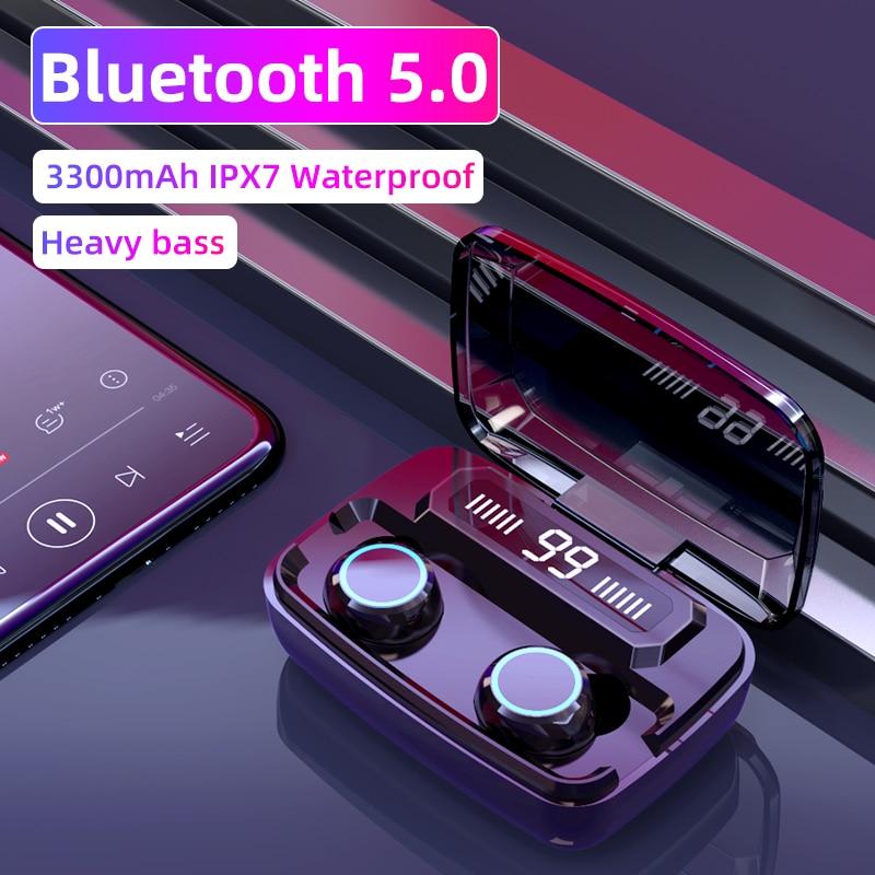 Original Wireless Headphones M11 TWS Bluetooth 5.0 In-ear Earphone Noise Reduction HiFi IPX7 Waterproof Headset For Sports