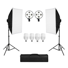 Photography 50x70CM Lighting Four Lamp Softbox Kit With E27