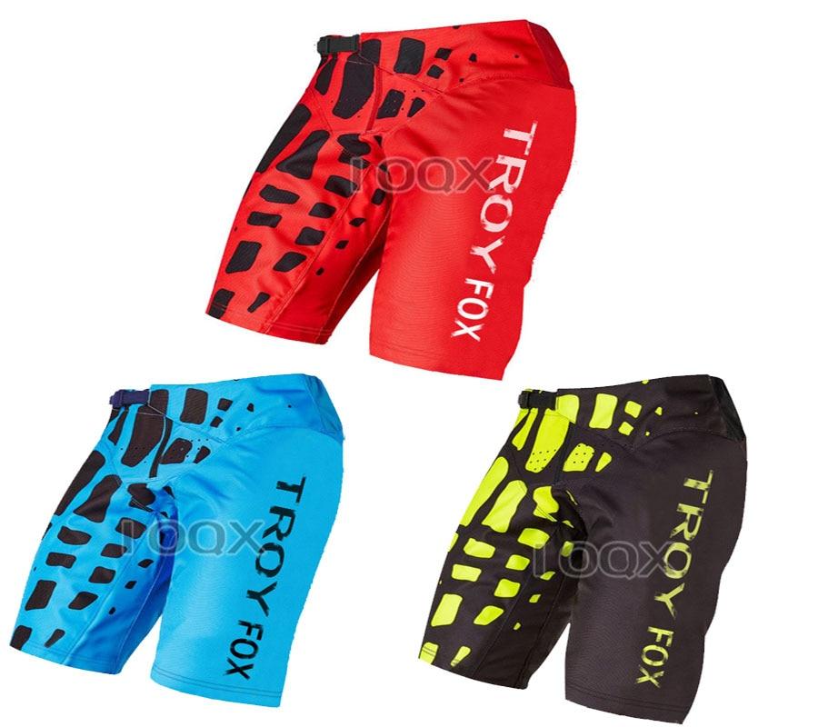 3 Color Troy Fox Motocross MTB Bike Off Road Shorts Motorbike Motorcycle 360 Demo Summer Short Pants