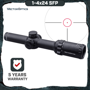 Vector Optics Arbiter 1-4x24 SFP Hunting Riflescope Illuminated Red Dot Sight For Heavy Recoil .308 30-06 cal. Rifles & Airguns(China)