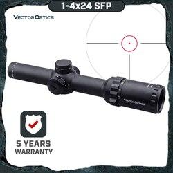 Vector Optics Arbiter 1-4x24 SFP Jacht Riflescope Illuminated Red Dot Sight Voor Zware Terugslag. 308 30-06 cal. Rifles & Airguns
