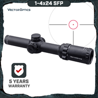 Vector Optics Arbiter 1 4x24 SFP Hunting Riflescope Illuminated Red Dot Sight For Heavy Recoil .308 30 06 cal. Rifles & Airguns