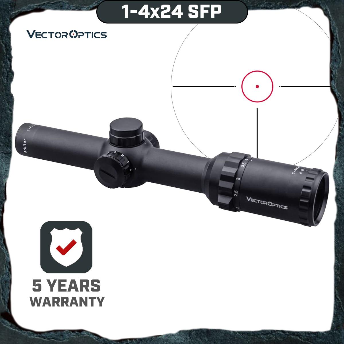 arbiter 1 4x24 sfp da otica do vetor que caca o riflescope iluminou a vista vermelha