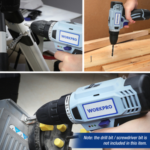 Image 5 - WORKPRO 12V Cordless Drill Electric Screwdriver Mini Wireless Power Driver DC Lithium Ion Battery 3/8 Inch 2 Speed