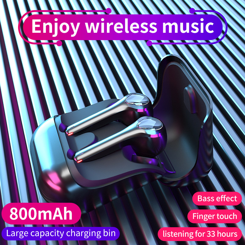 TWS Bluetooth V5 0 Earphones Stereo Sound Wireless Headphones with Mic Noise Cancelling Waterproof Headsets for iOS Android