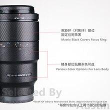 Protetor do filme do envoltório do decalque da pele da lente para a etiqueta anti risco macro de sony fe 90mm f2.8
