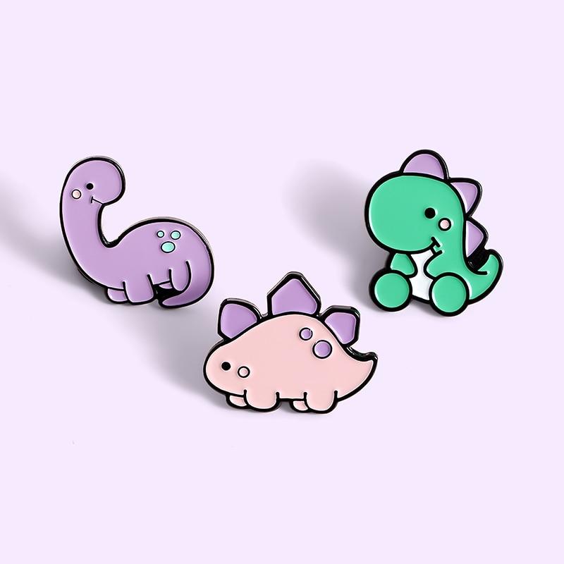 3~4pcs/set Cuty Animal Baby Enamel Pin Koala T-Rex Brooch Lapel Pin Dog Cat Badge Sloth Magic Ball Jewelry Gift amazing price 3