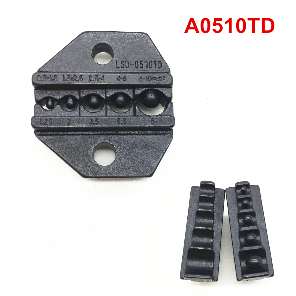 Crimp Die Set A0510TD Crimping Jaws For Non-insulated Cable Lugs Terminals 22-8AWG 0.5-10mm2