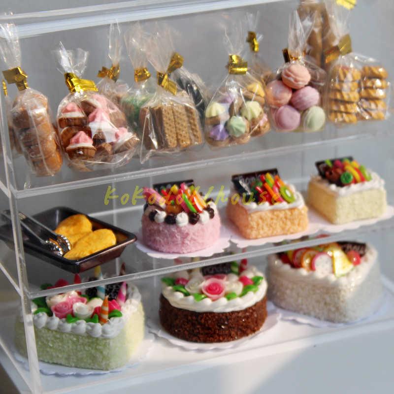1/12 Scale Dollhouse Miniature เค้กชาขนมหวานอาหารสำหรับ Blyth ตุ๊กตาบาร์บี้ House เล่นอุปกรณ์ครัวของเล่น