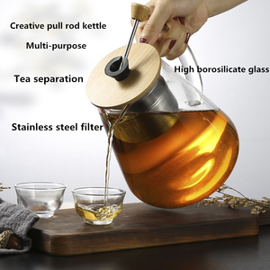 Image 3 - Stainless Steel Infuser Teapot Clear Borosilica Glass Filter Heat Resistant Coffee Puer Tea Pot Heated Container Boiling Kettle