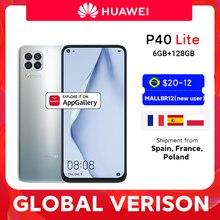 Global Versie Huawei P40 Lite Smartphone 6Gb 128Gb 48MP Ai Camera 16MP Front Camera 6.4 ''Scherm Kirin 810