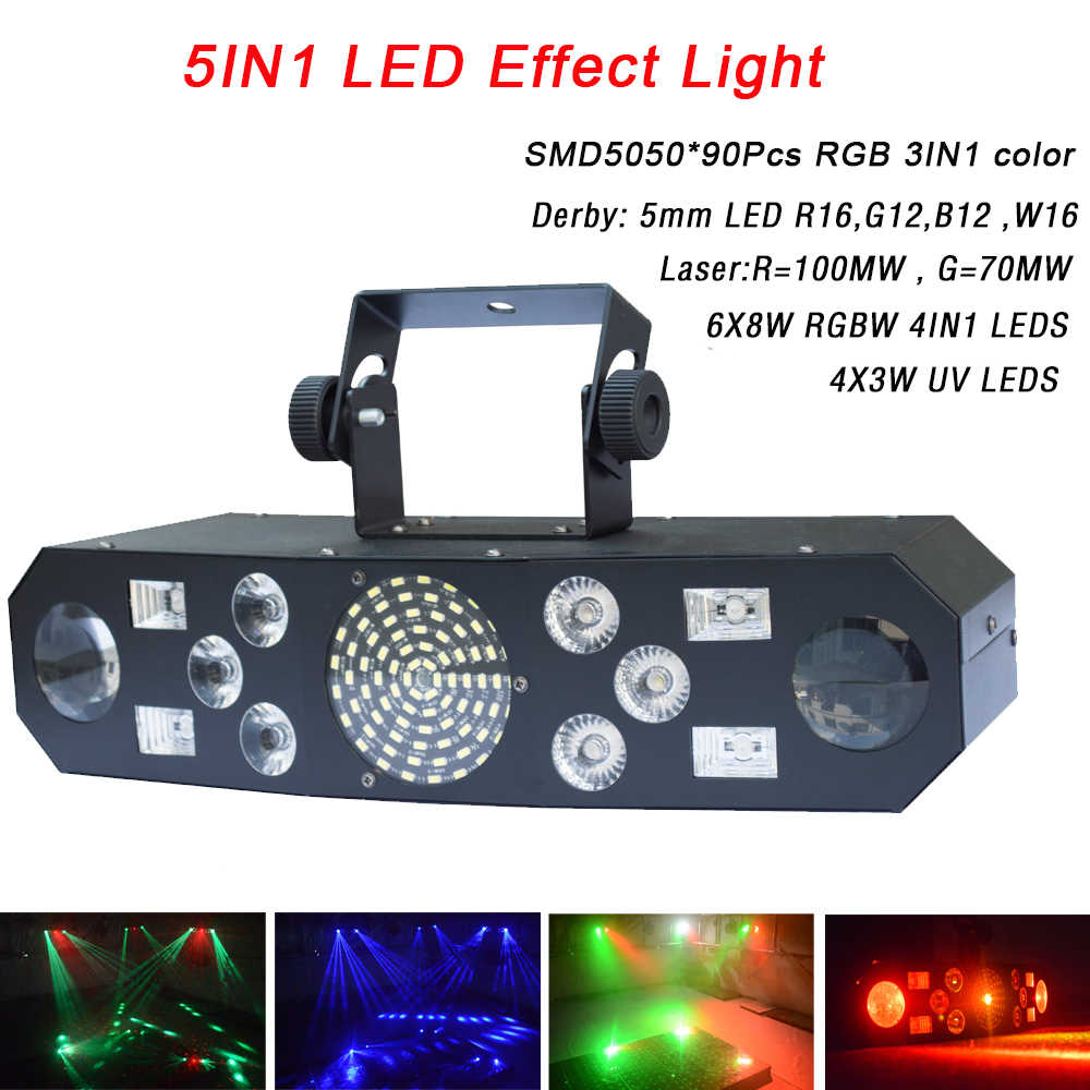Profesional 5IN1 Efek Pola RGBW Audio Star Angin Puyuh Laser Panggung Disco Dj Club Bar KTV Pesta Keluarga Light Show