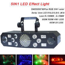 Professionele 5IN1 Patroon Effect Rgbw Audio Ster Whirlwind Laser Projector Stage Disco Dj Club Bar Ktv Familiefeest Lichtshow(China)